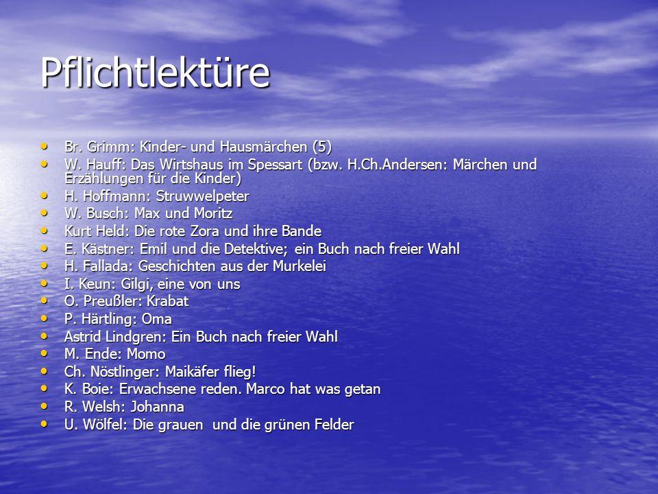 Pflichtlektüre Br. Grimm: Kinder- und Hausmärchen (5)