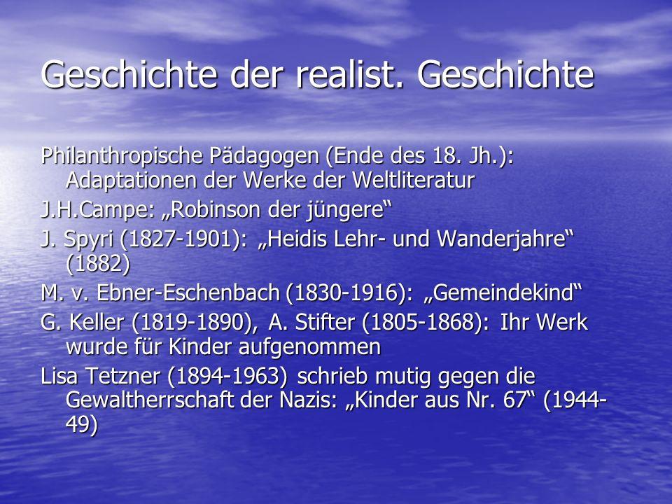 Geschichte der realist. Geschichte