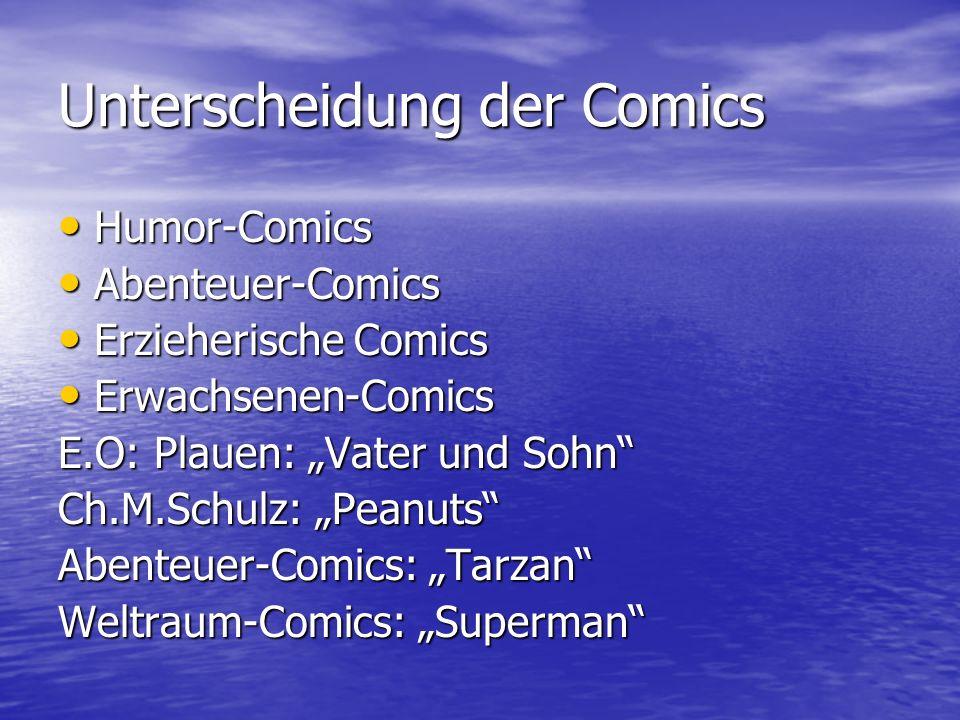 Unterscheidung der Comics