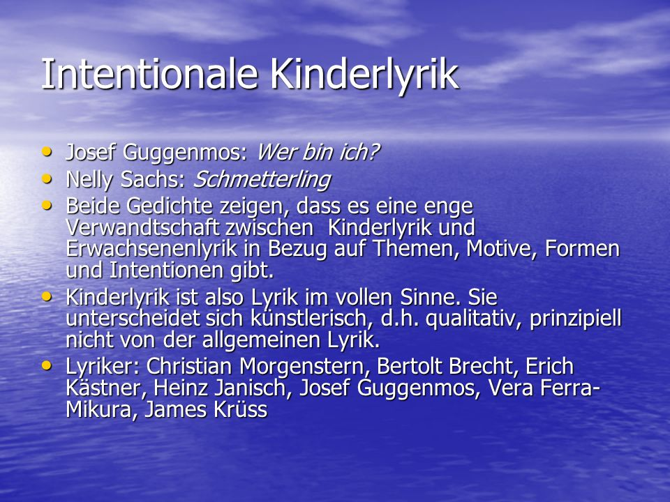 Intentionale Kinderlyrik