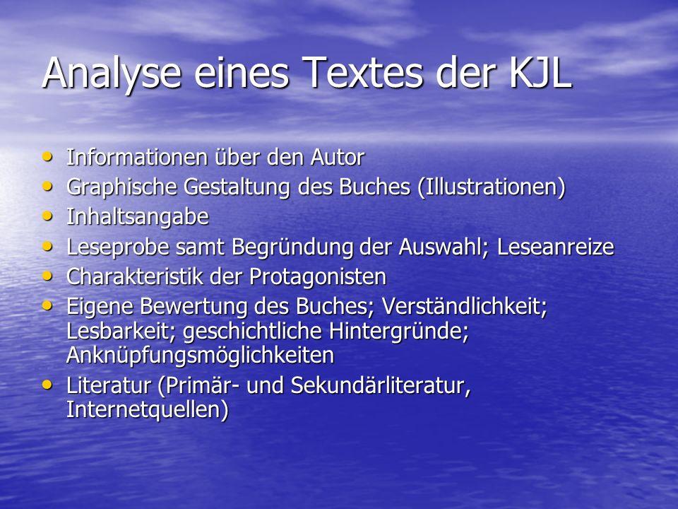 Analyse eines Textes der KJL