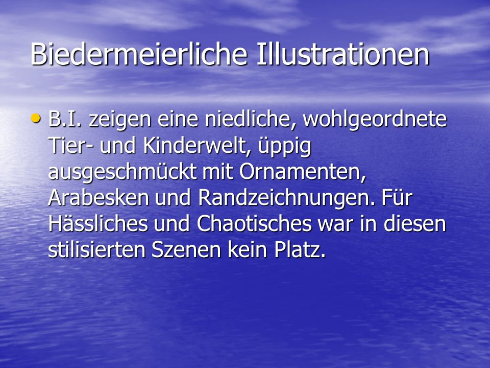 Biedermeierliche Illustrationen