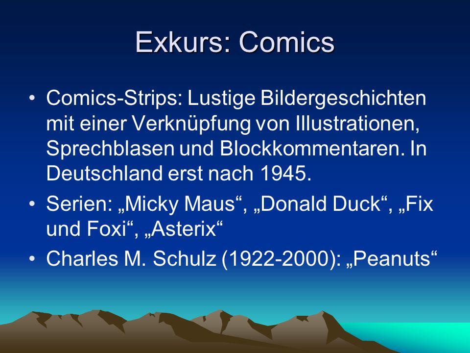 Exkurs: Comics