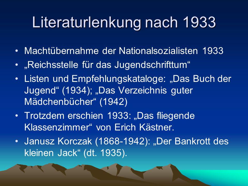 Literaturlenkung nach 1933