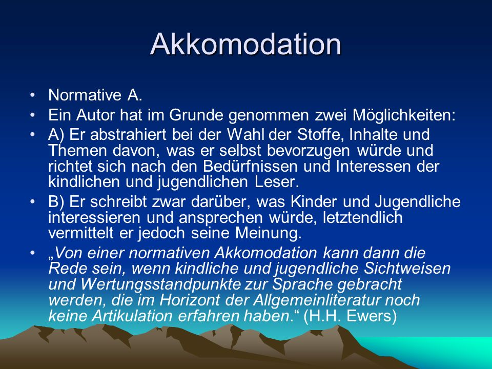 Akkomodation Normative A.