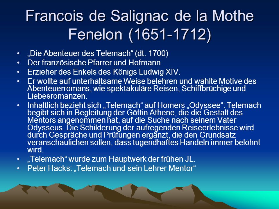 Francois de Salignac de la Mothe Fenelon (1651-1712)