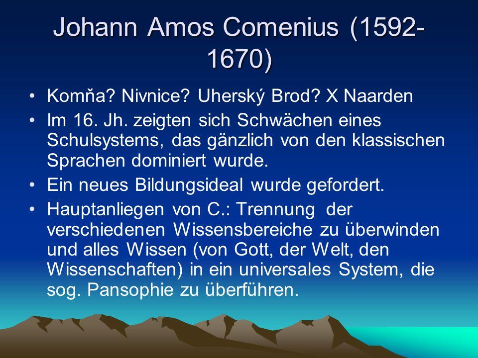 Johann Amos Comenius (1592-1670)