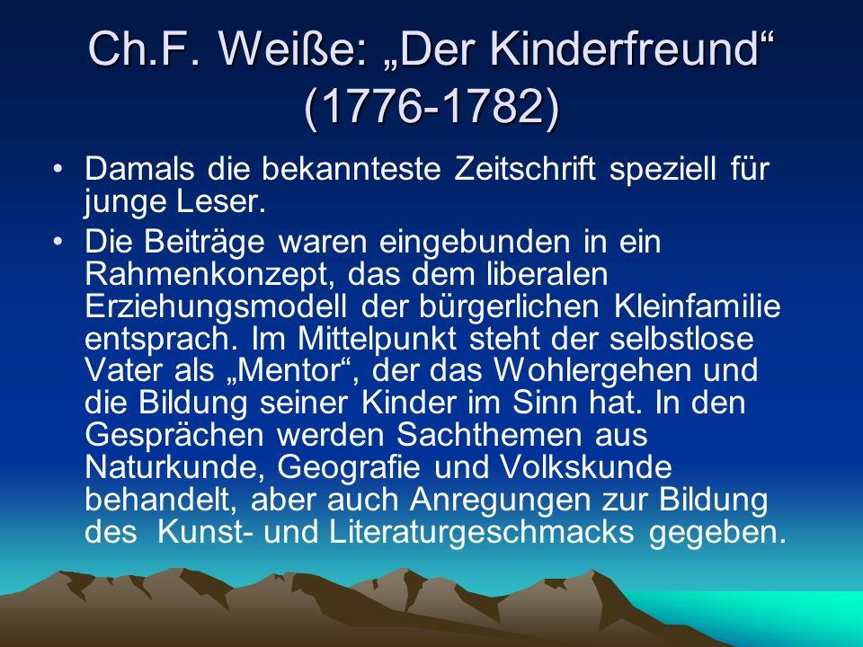 """Ch.F. Weiße: """"Der Kinderfreund (1776-1782)"""