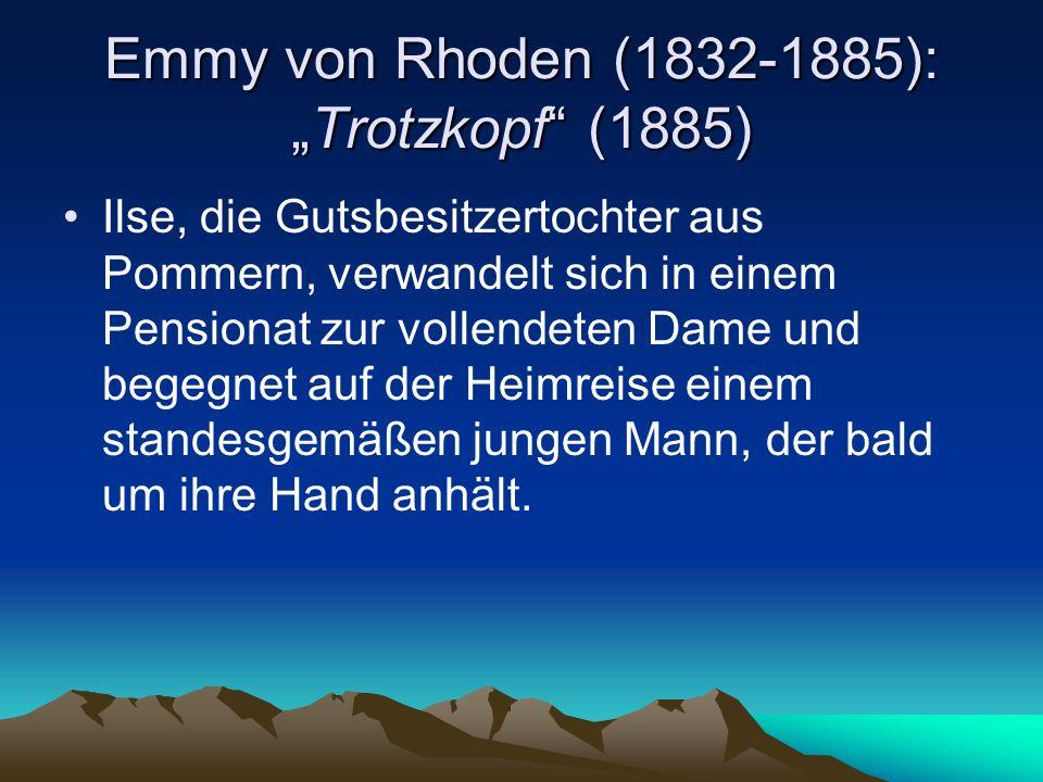 """Emmy von Rhoden (1832-1885): """"Trotzkopf (1885)"""