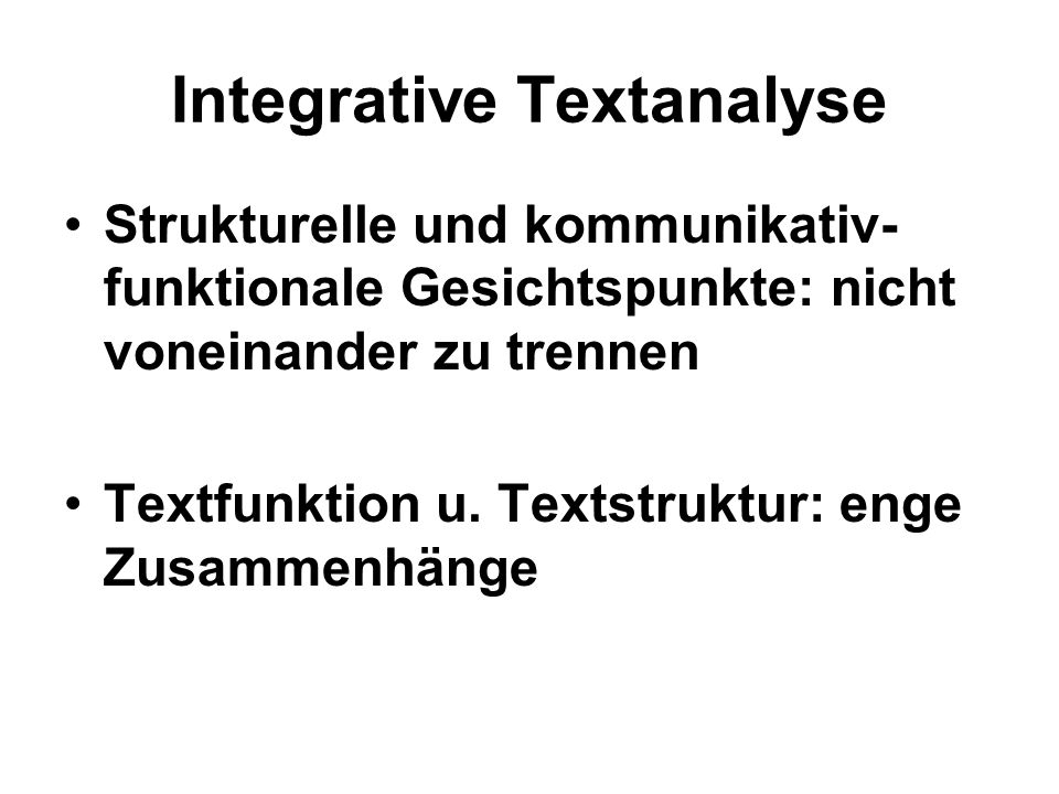 Integrative Textanalyse