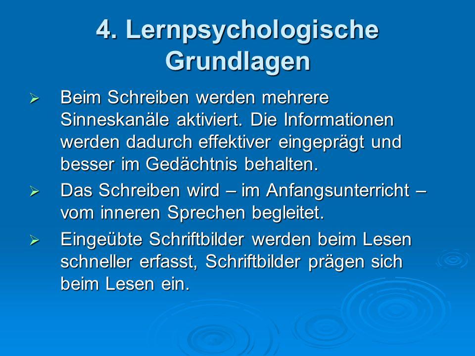 4. Lernpsychologische Grundlagen