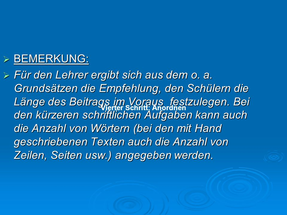 BEMERKUNG: