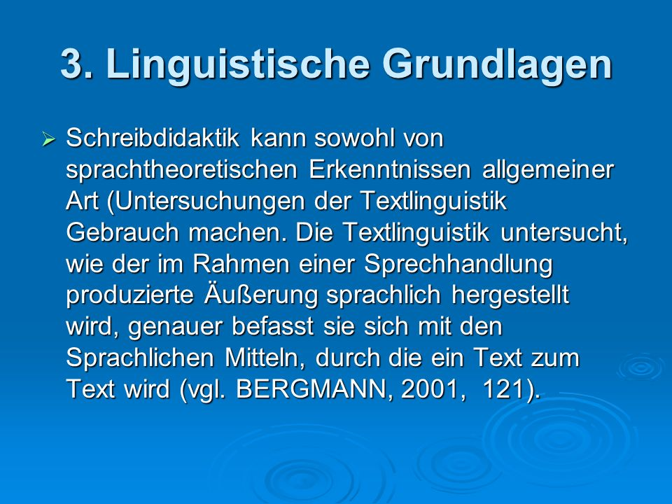 3. Linguistische Grundlagen