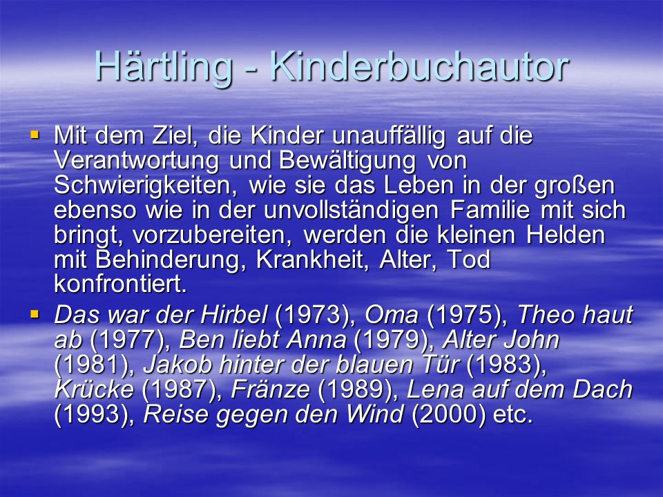 Härtling - Kinderbuchautor