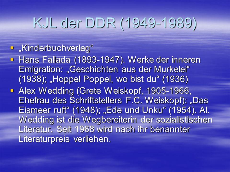 "KJL der DDR (1949-1989) ""Kinderbuchverlag"