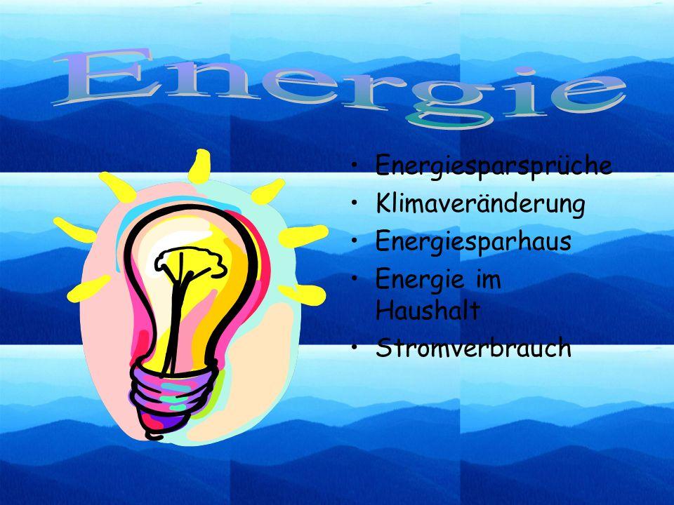Energie Energiesparsprüche Klimaveränderung Energiesparhaus
