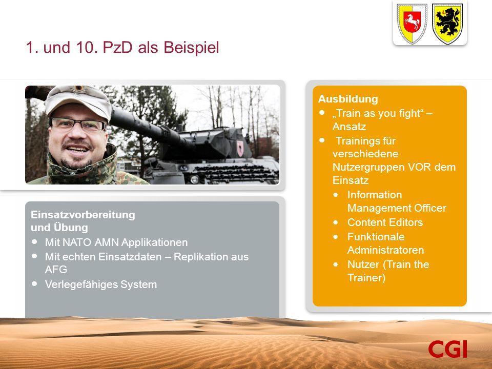 """1. und 10. PzD als Beispiel Ausbildung """"Train as you fight – Ansatz"""