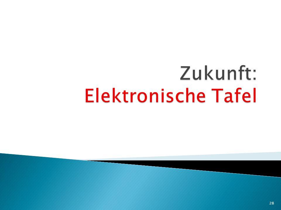 Zukunft: Elektronische Tafel