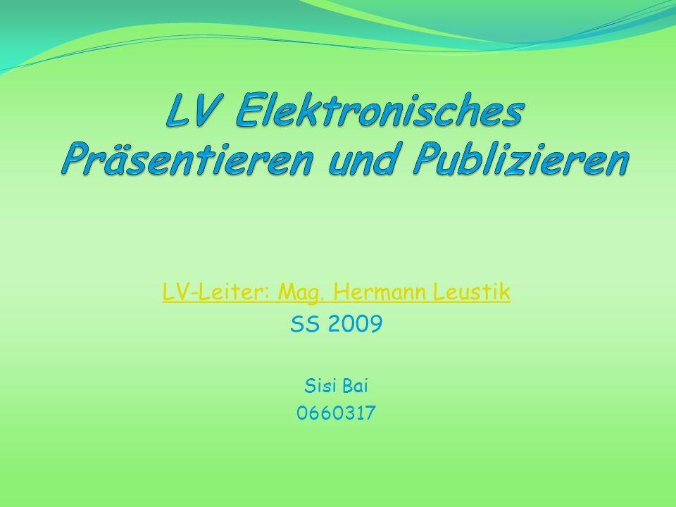 LV Elektronisches Präsentieren und Publizieren