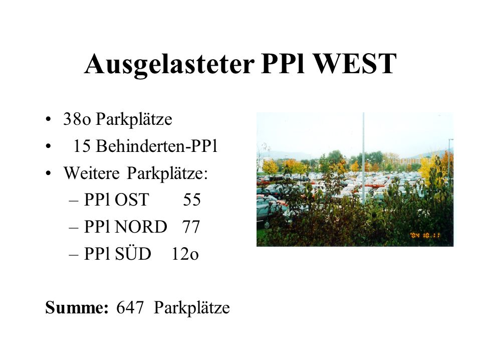 Ausgelasteter PPl WEST