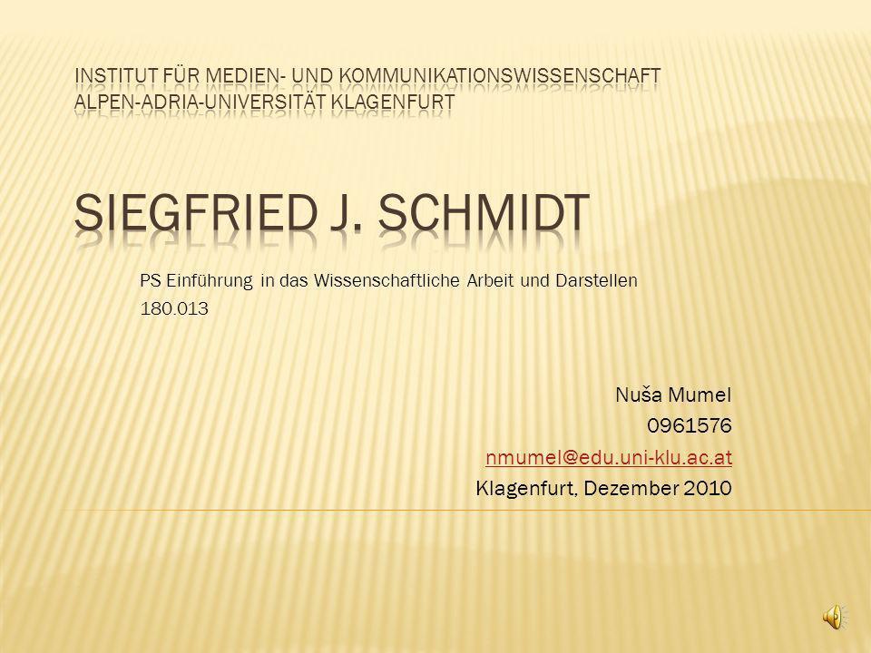 Nuša Mumel 0961576 nmumel@edu.uni-klu.ac.at Klagenfurt, Dezember 2010