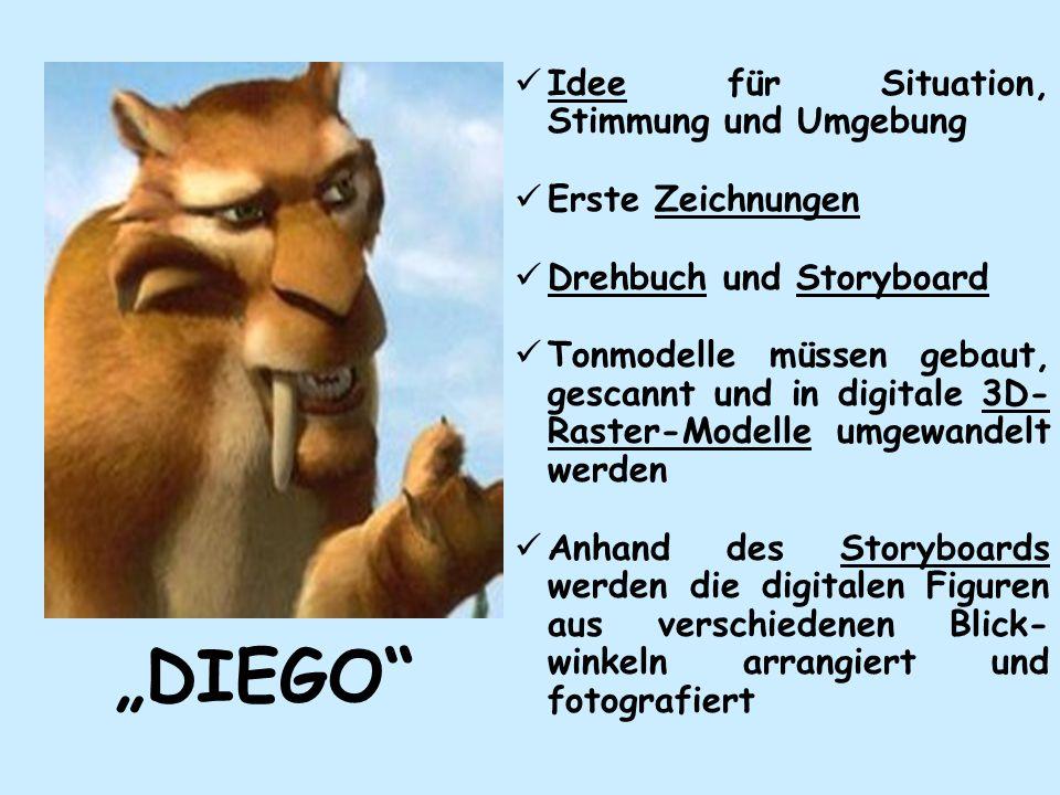 """""""DIEGO Idee für Situation, Stimmung und Umgebung Erste Zeichnungen"""
