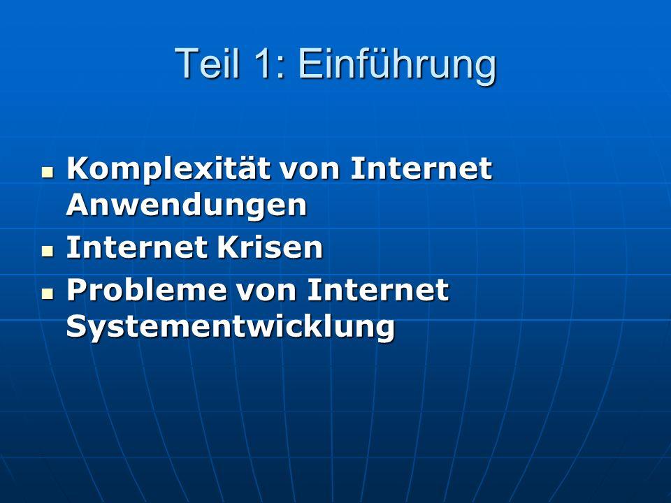 Teil 1: Einführung Komplexität von Internet Anwendungen