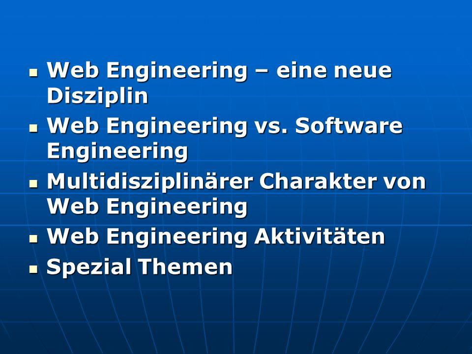 Web Engineering – eine neue Disziplin