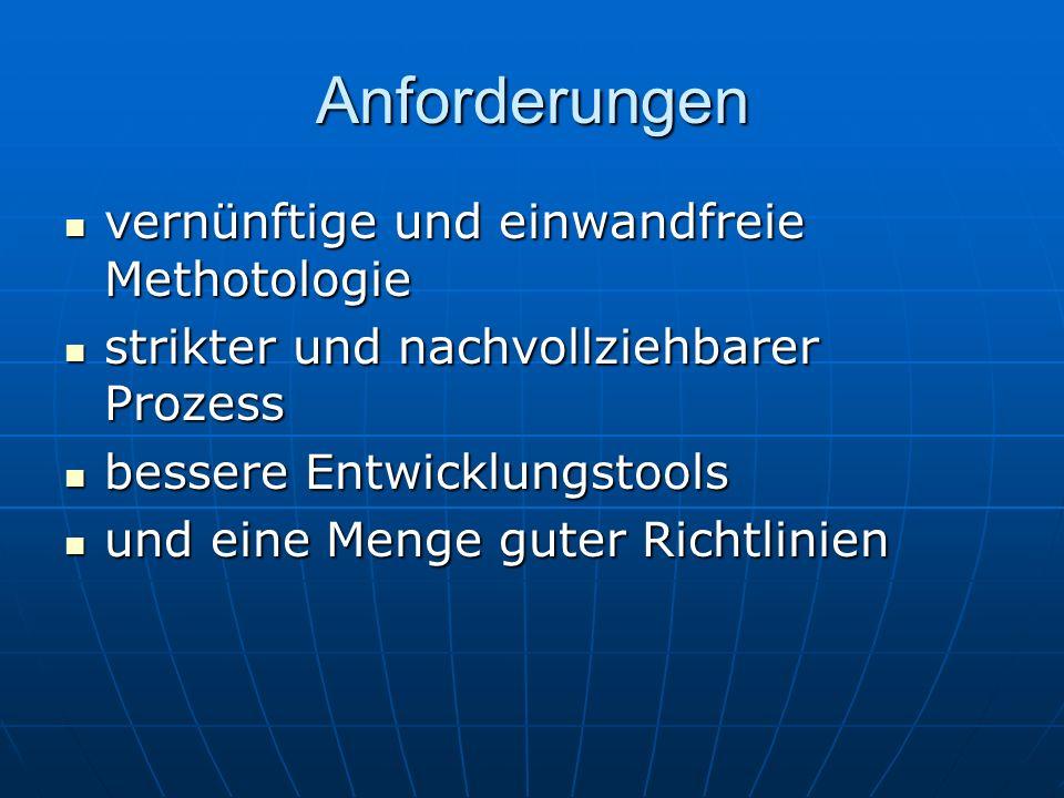 Anforderungen vernünftige und einwandfreie Methotologie
