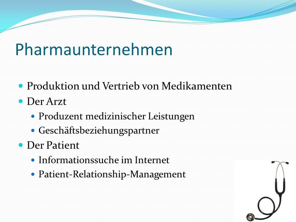 Pharmaunternehmen Produktion und Vertrieb von Medikamenten Der Arzt