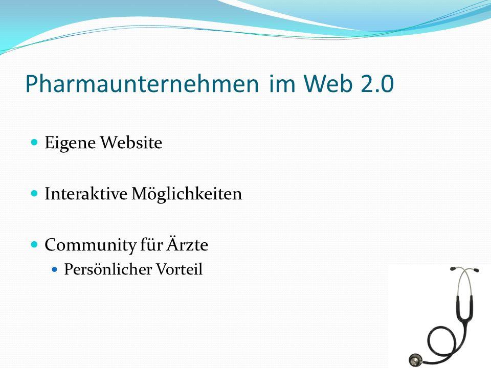 Pharmaunternehmen im Web 2.0