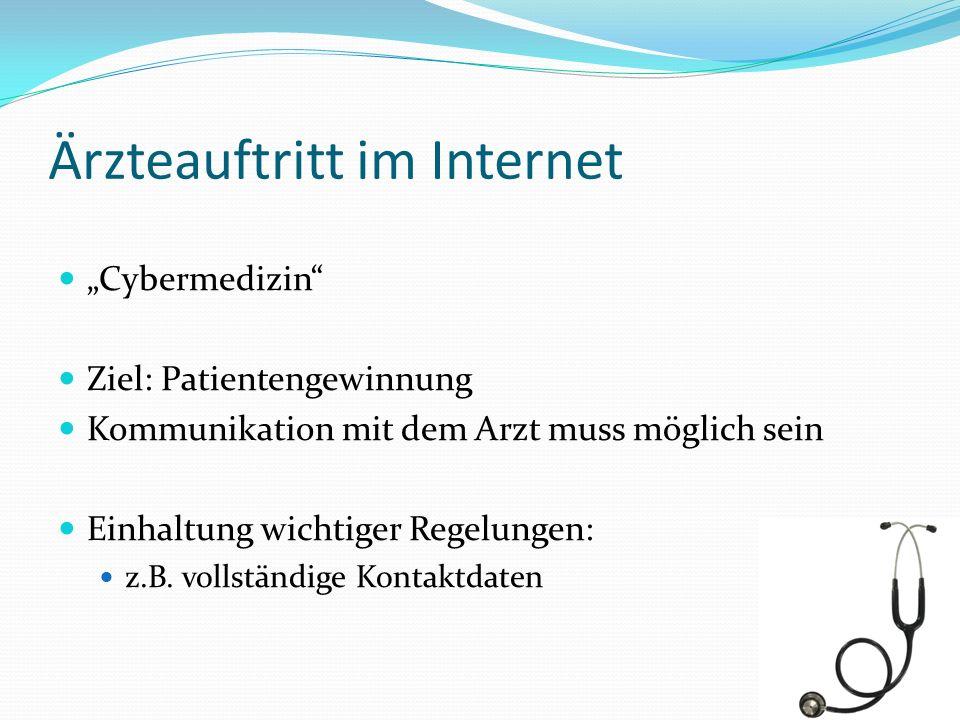 Ärzteauftritt im Internet