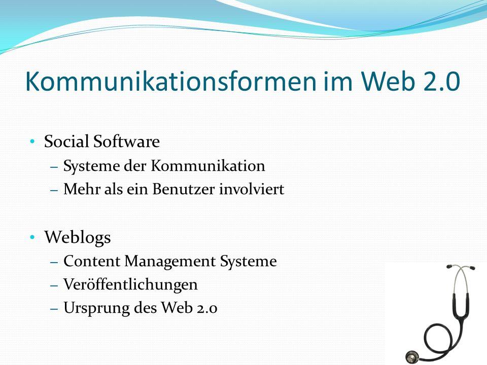 Kommunikationsformen im Web 2.0