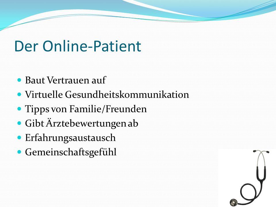 Der Online-Patient Baut Vertrauen auf