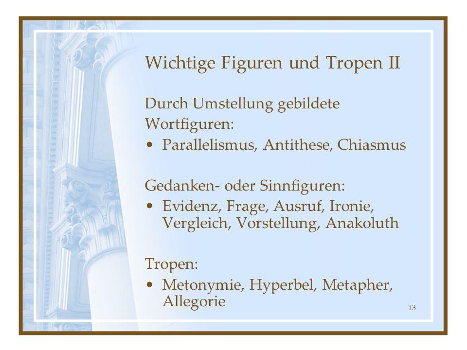 Wichtige Figuren und Tropen II