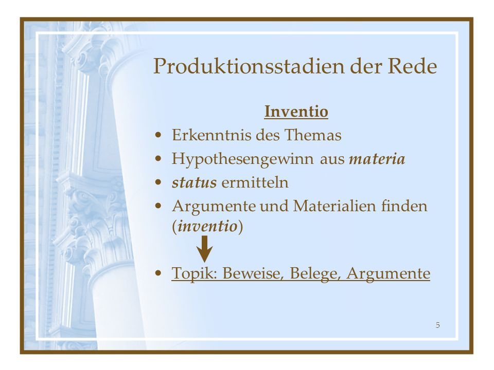 Produktionsstadien der Rede