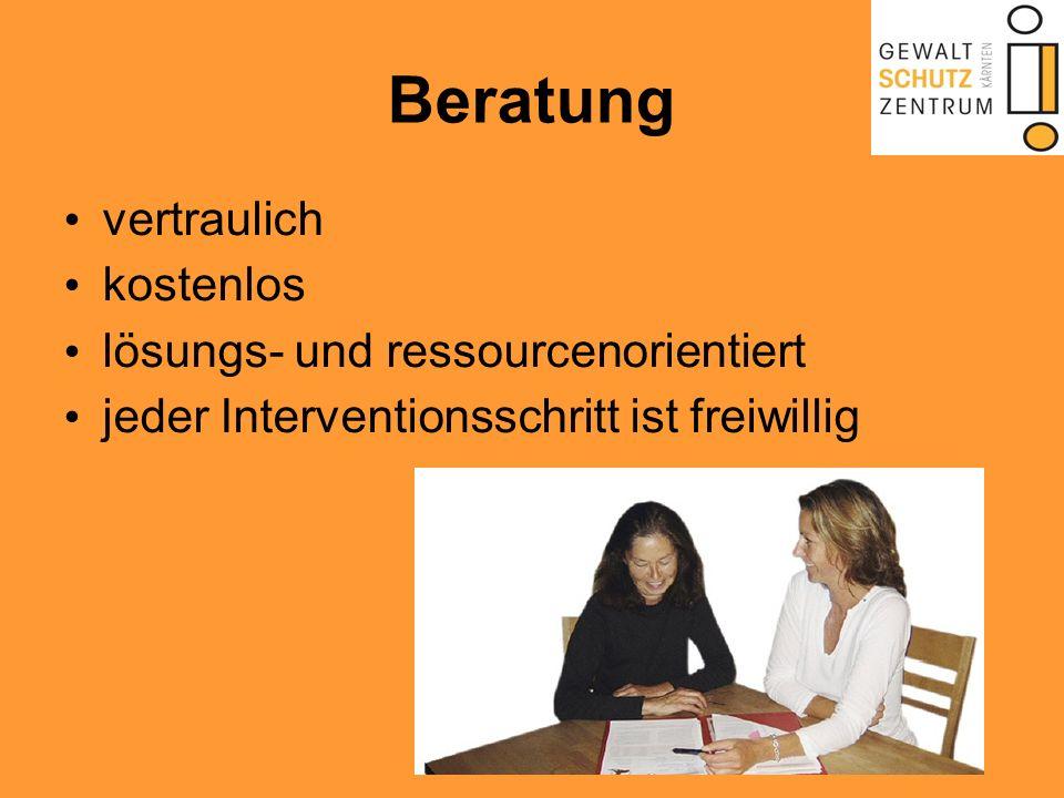 Beratung vertraulich kostenlos lösungs- und ressourcenorientiert