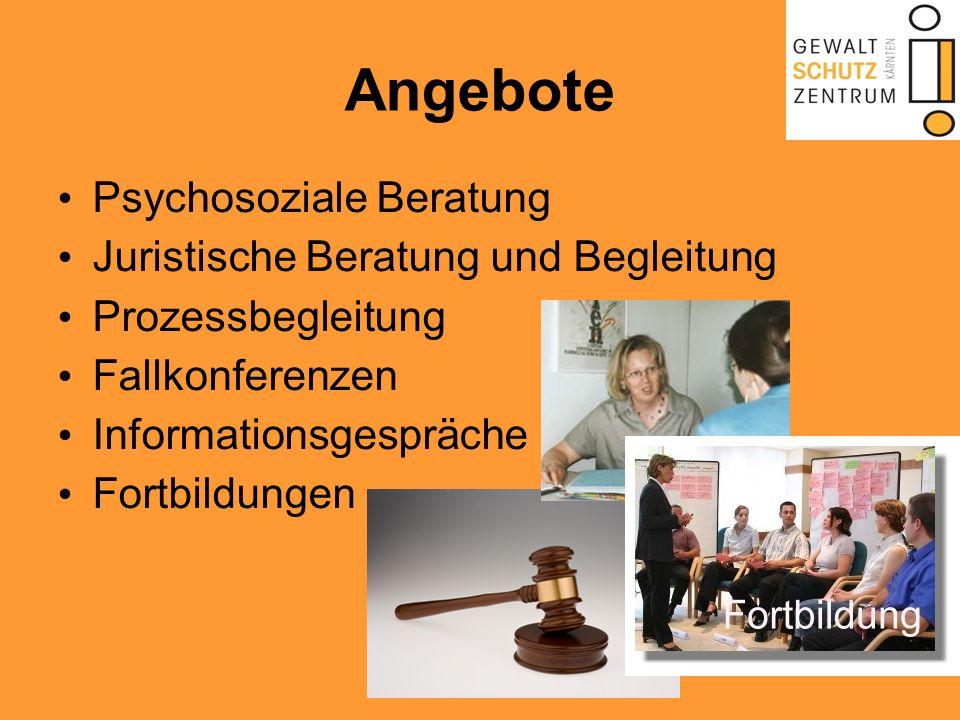Angebote Psychosoziale Beratung Juristische Beratung und Begleitung