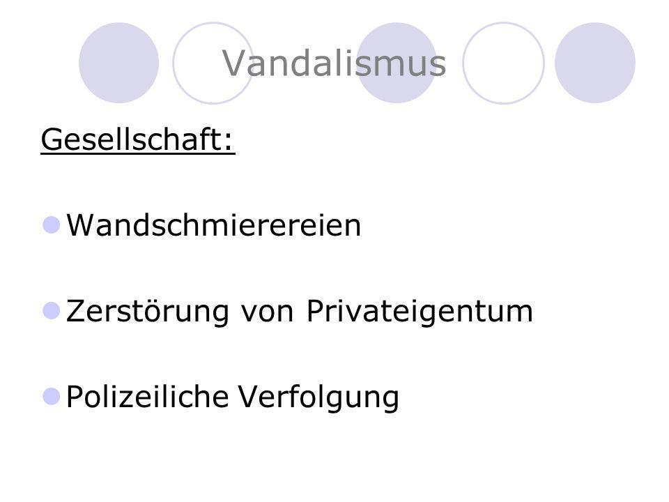 Vandalismus Gesellschaft: Wandschmierereien