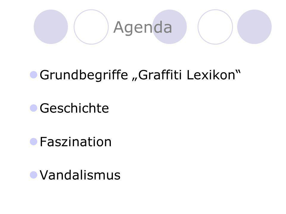 """Agenda Grundbegriffe """"Graffiti Lexikon Geschichte Faszination"""
