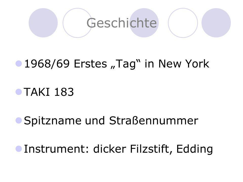 """Geschichte 1968/69 Erstes """"Tag in New York TAKI 183"""