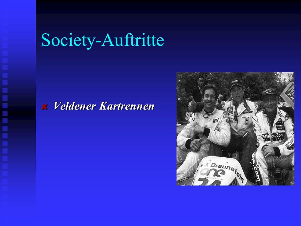 Society-Auftritte Veldener Kartrennen