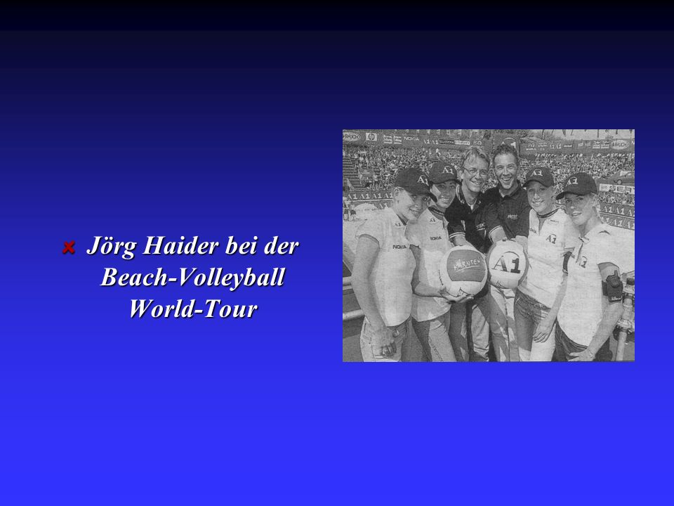 Jörg Haider bei der Beach-Volleyball World-Tour