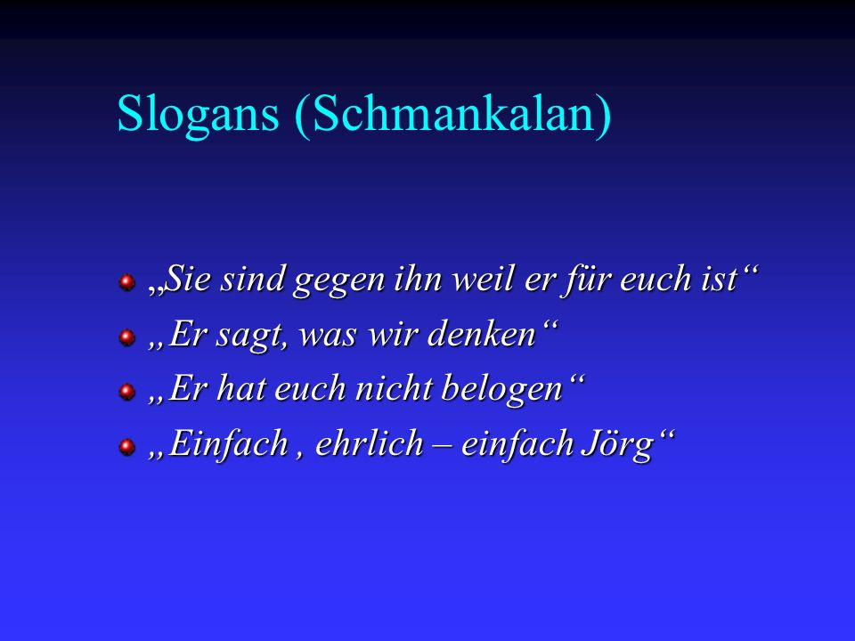 Slogans (Schmankalan)