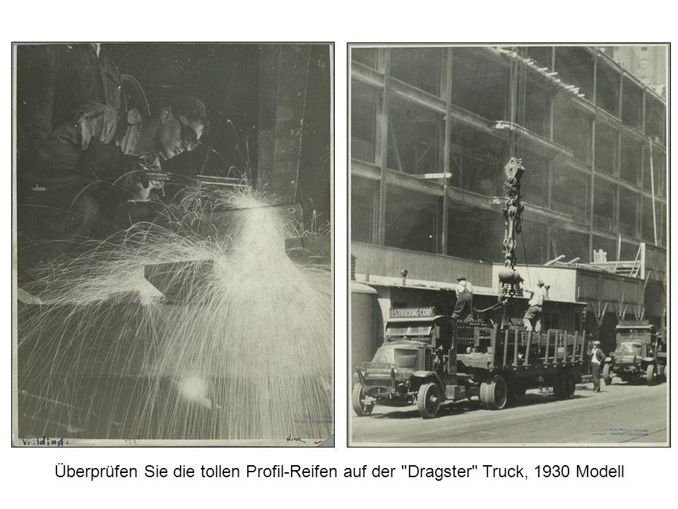 Überprüfen Sie die tollen Profil-Reifen auf der Dragster Truck, 1930 Modell