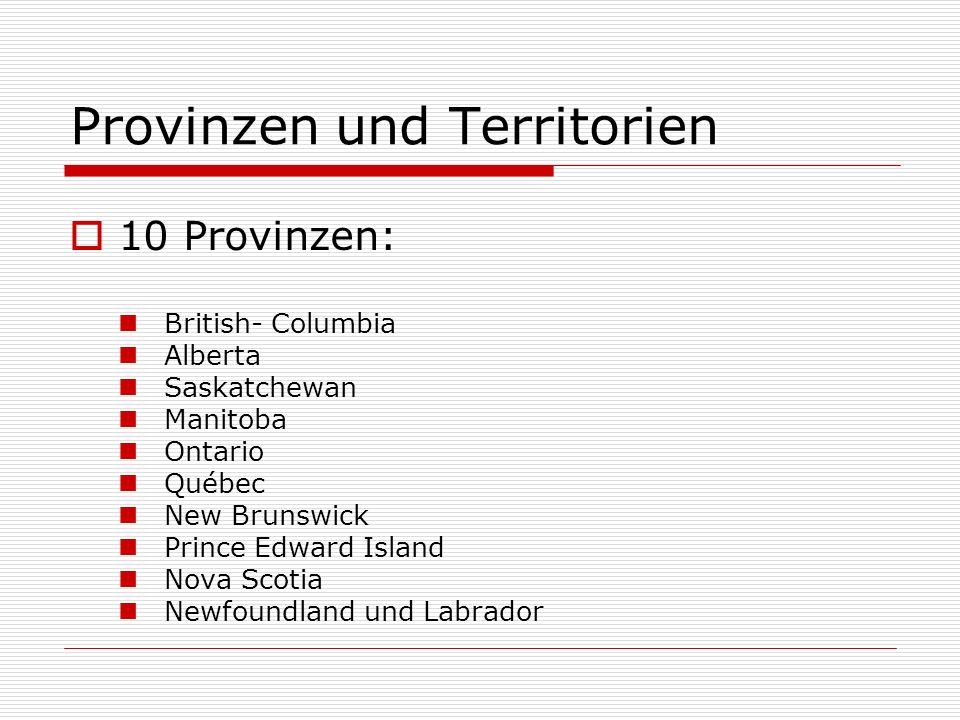 Provinzen und Territorien