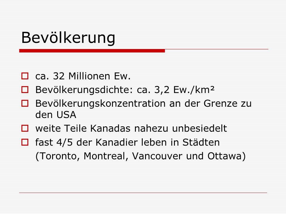 Bevölkerung ca. 32 Millionen Ew. Bevölkerungsdichte: ca. 3,2 Ew./km²