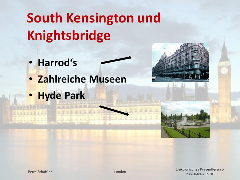 South Kensington und Knightsbridge