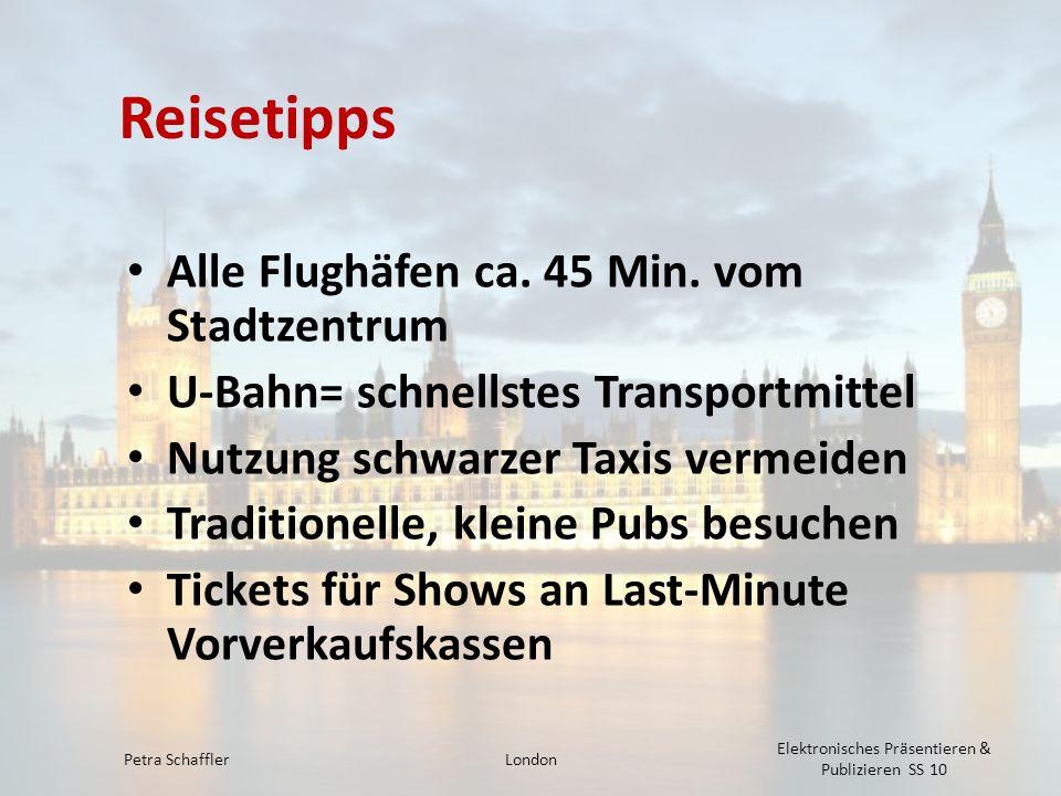 Reisetipps Alle Flughäfen ca. 45 Min. vom Stadtzentrum