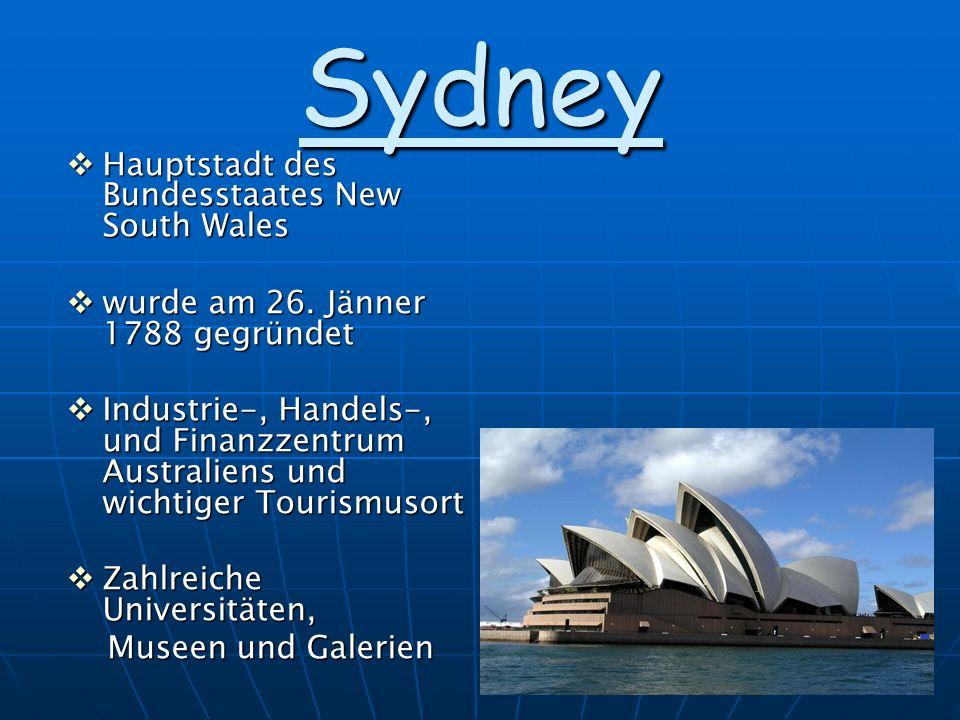 Sydney Hauptstadt des Bundesstaates New South Wales